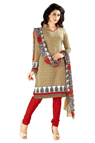 Beige Color Cotton Un Stitched Salwar - SFST-KMIXVRWC22007