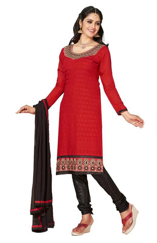 Red  Color Chanderi Un Stitched Salwar - SFST-KNH30005