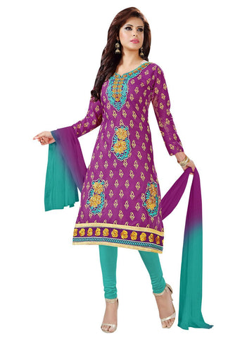 Purple Color Cotton Un Stitched Salwar - SFST-KPKML522008