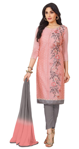 Pink  Color Chanderi Un Stitched Salwar - SFST-KPRQ004