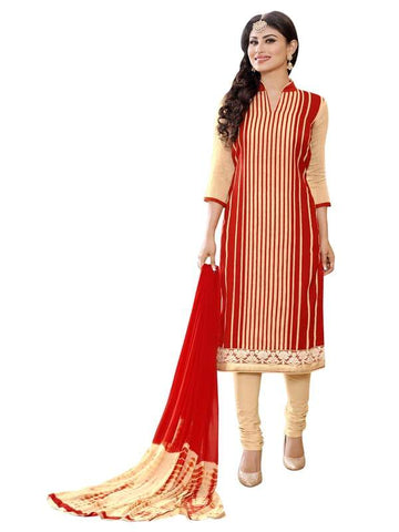 Beige Color Cotton Un Stitched Salwar - SFST-MNI1011