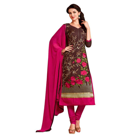 Brown Color Cotton Un Stitched Salwar - SFST-MSMEXT1401