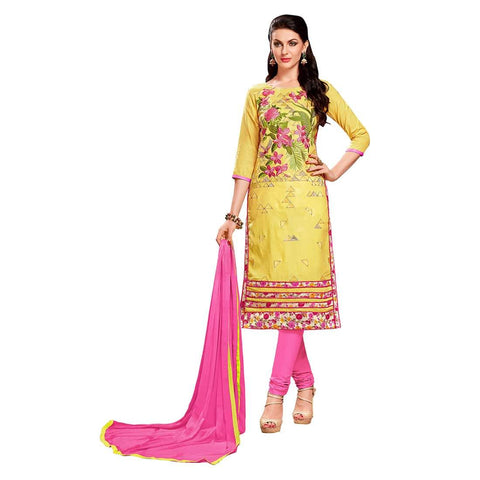 Yellow Color Cotton Un Stitched Salwar - SFST-MSMEXT1404