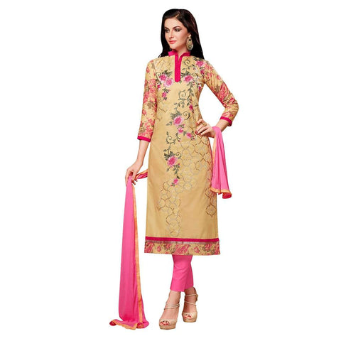 Beige Color Cotton Un Stitched Salwar - SFST-MSMEXT1405