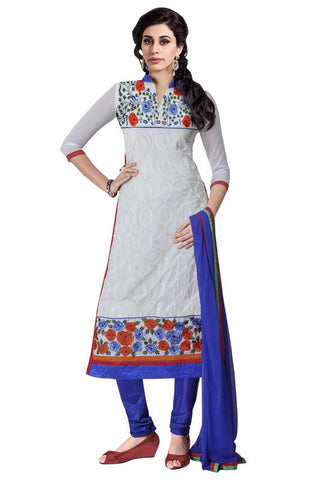 White Color Georgette Un Stitched Salwar - SFST-MSMINYT908