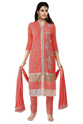 Red Color Georgette Un Stitched Salwar - SFST-MSMINYT909