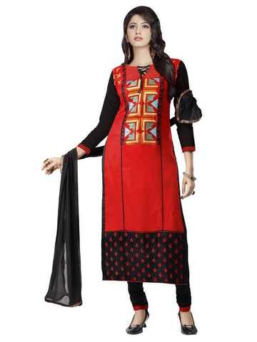 Red Color Cotton Un Stitched Salwar - SFST-MSMMTN2811