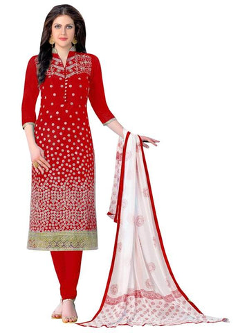 Red Color Cotton Un Stitched Salwar - SFST-MSMQN1103RED