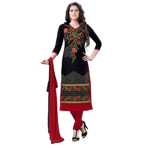 Black Color Cotton Un Stitched Salwar - SFST-MSMQN1354