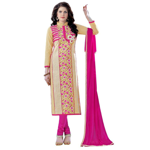 Beige Color Cotton Un Stitched Salwar - SFST-MSMQN1355