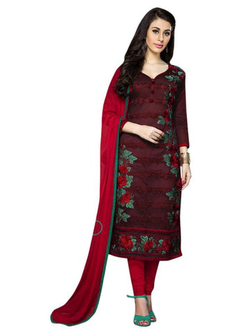 Maroon Color Cotton Un Stitched Salwar - SFST-MSMSNH1255