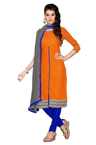 Orange  Color Chanderi Un Stitched Salwar - SFST-PMNVDOV1403A