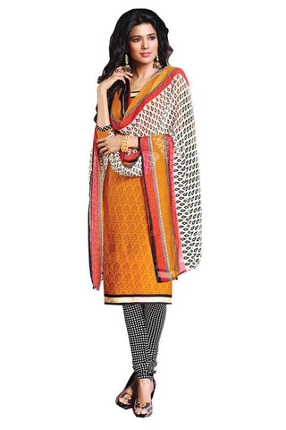 Yellow Color Crepe Un Stitched Salwar - SFST-PMNVDZL1017