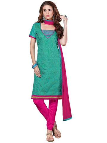 Green  Color Chanderi Un Stitched Salwar - SFST-SMFADG45611