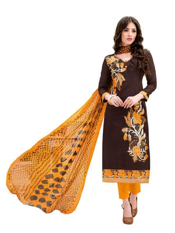 Brown Color Cotton Un Stitched  Salwar - SFST-SMFAG51002