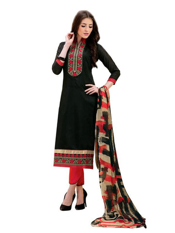 Black Color Cotton Un Stitched Salwar - SFST-SMFAG51008
