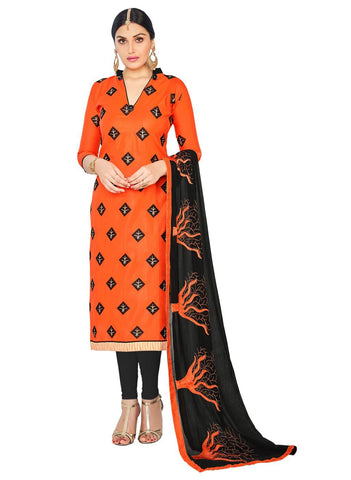 Orange Color Cotton Un Stitched Salwar - SFST-SMFGRG1010