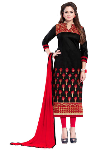 Black Color Cotton Un Stitched Salwar - SFST-SMFJNFR4001