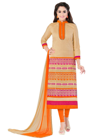Beige Color Cotton Un Stitched Salwar - SFST-SMFJNFR4006