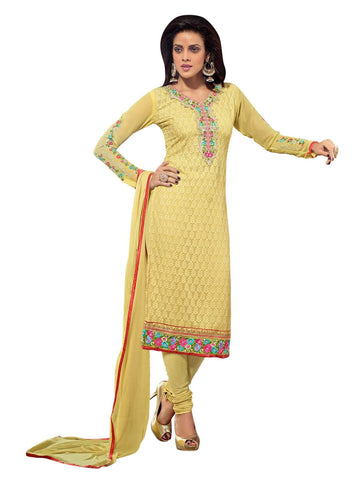 Yellow Color Georgette Un Stitched Salwar - SFST-SNSMP614202