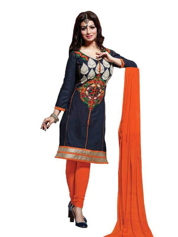 Blue Color Cotton Un Stitched Salwar - SFST-SNSMSF302