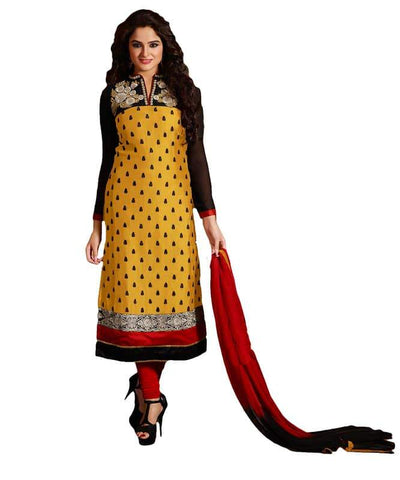 Yellow Color Cotton Un Stitched Salwar - SFST-SNSMSF326