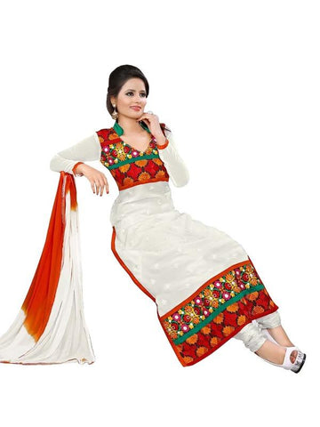 White Color Cotton Un Stitched Salwar - SFST-SNSMSF349