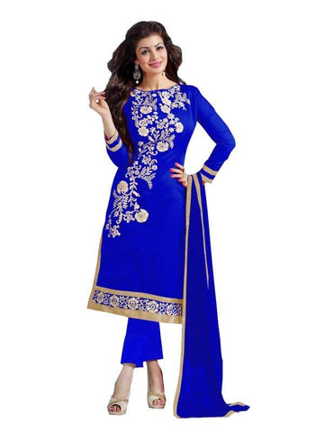 Blue Color Cotton Un Stitched Salwar - SFST-SNSMSF382
