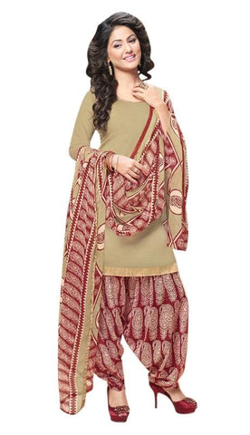 Beige Color Cotton Un Stitched Salwar - SFST-SNSMSF409