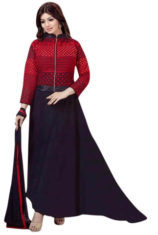 Red Color Georgette Un Stitched Salwar - SFST-SNSMSF440