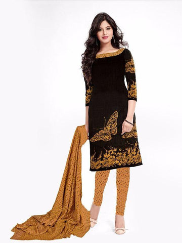 Brown Color Cotton Un Stitched Salwar - SFST-SNSMSF460