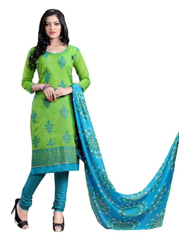 Green Color Jacquard Un Stitched Salwar - SFST-SNSMSF479