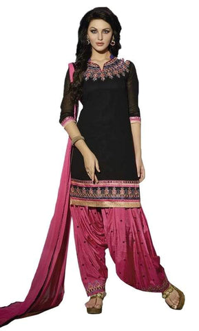 Black Color Georgette Un Stitched Salwar - SFST-SNSMSF529