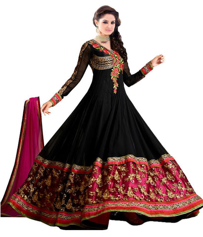 Black Color Georgette Un Stitched Salwar - SFST-SNSMSF57