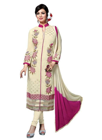 Cream Color Georgette Un Stitched Salwar - SFST-SNSMSF582
