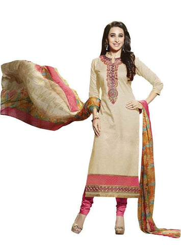 Beige Color Cotton Un Stitched Salwar - SFST-SNSMSF693