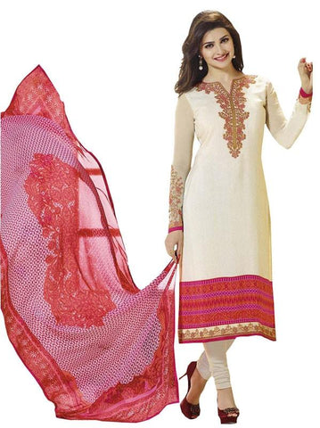 White Color Crepe Un Stitched Salwar - SFST-SNSMSF694