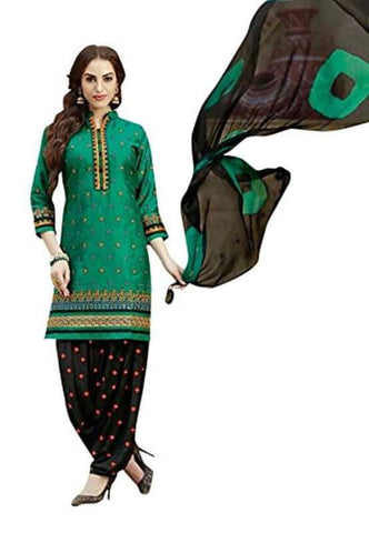 Green Color Cotton Un Stitched Salwar - SFST-SNSMSF732