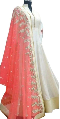 White Color Banarasi Un Stitched Salwar - SFST-SNSMSF743