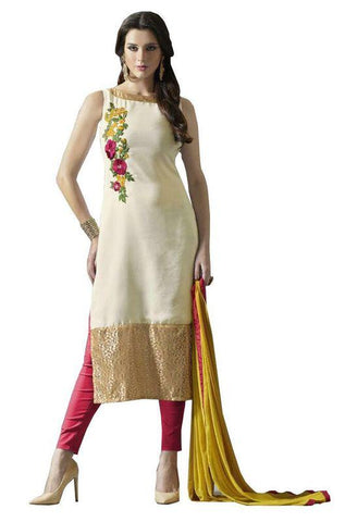 Beige Color Cotton Un Stitched Salwar - SFST-SNSMSF800