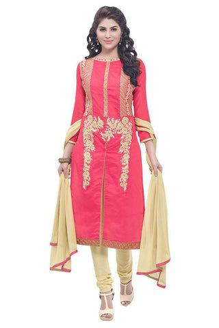 Pink Color Chanderi Cotton  Salwar - SFST-VLNSHD44005