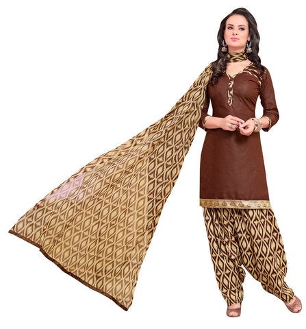 Brown Color Cotton Un Stitched Salwar - SFST-VPPH44006