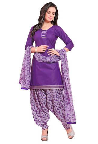 Purple Color Cotton Un Stitched Salwar - SFST-VPPH44007