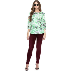 Green Color Polyster Top