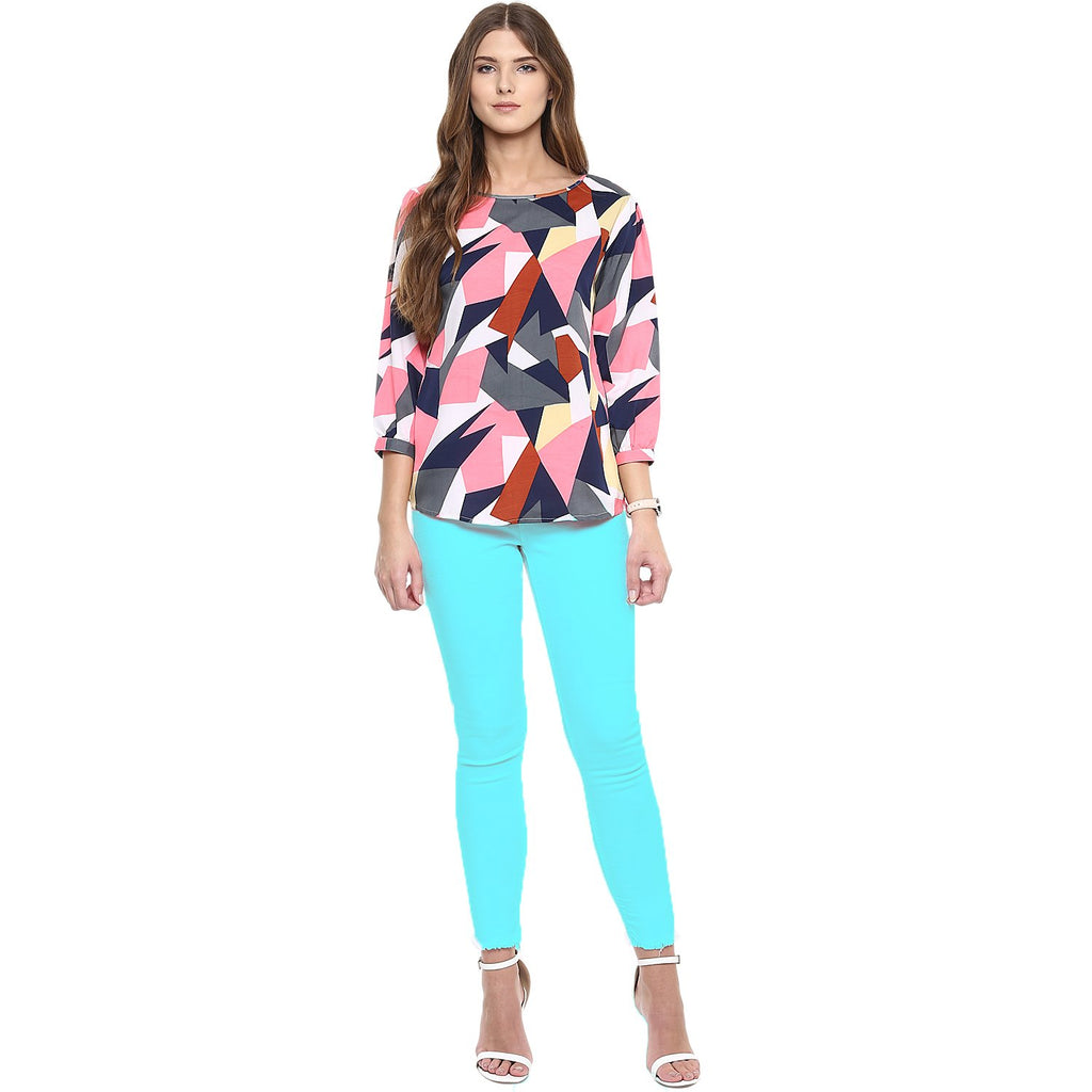 Multi Color Polyster Top