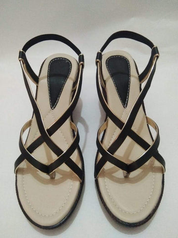 Cream Color PVC Airmex Sole And Synthetic Rexine Women Sandals - SFW-5
