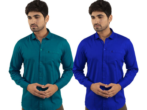 Combo Shirts Sea Green and Royal Blue - 1ABF-SG-RB
