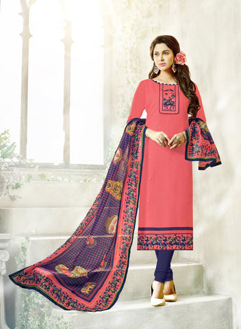 NavyBlue Color South Cotton Unstitched Salwar Kameez - SHEN41012