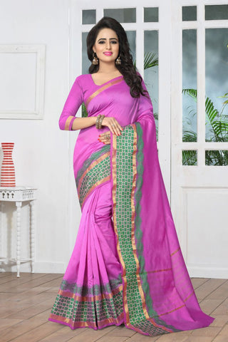 Pink Color Banarasi Silk Saree - SIM-SIM1092