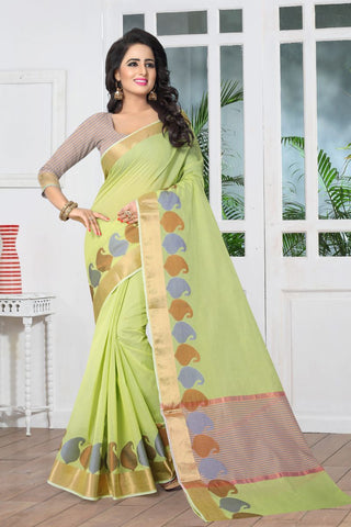 Lemon Yellow Color Banarasi Silk Saree - SIM-SIM1097
